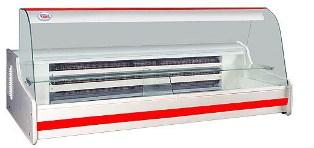 Витрина холодильная настольная с гнутым стеклом