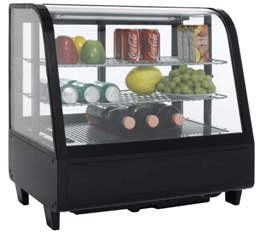 Витрина холодильная настольная SCAN RTW 100 с продуктами