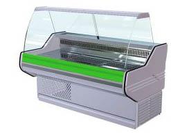 Холодильная витрина прилавок зеленая