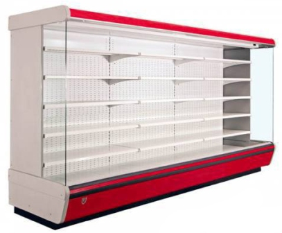 Красная холодильная горка